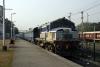 """LKO """"Jumbo"""" WDM2 17791 at Lalkua Jct with 55315 0835 Lalkua Jct - Kashipur Jct"""