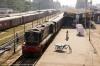 NKE YDM4 6597 waits to depart Saharsa Jct with 52326 1230 Saharsa Jct - Raghopur