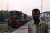 NKE YDM4 6752 waits departure from Sakri Jct with 52519 1720 Sakri Jct - Laukaha Bazar