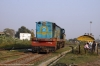 NKE YDM4 6465 backs onto its stock at Narkatiaganj Jct to work 52512 1515 Narkatiaganj Jct - Bhelwa