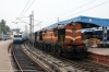 KZJ WDG3A 14587 at Hyderabad with 57547 0755 Hyderabad - Purna Jct