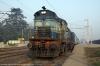 KJM WDG3A 13049 waits to depart Korba with 12252 0800 Korba - Yesvantpur Wainganga Express