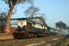 MLDT WDM2 16868 with its one coach at Old Malda Jct,  55710 0615 Old Malda - Singhabad, on the Bangladeshi border
