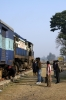 MLDT WDM2 16868 waits departure from Singhabad with the only train of the day, 55709 0830 Singhabad - Old Malda Jct