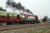 JMP WDM2 16575 departs Ratanpur with 53408 1305 Jamalpur Jct - Rampurhat, 3 hours late