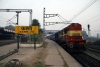LKO WDM2 16612 (still in SSB livery) departs Kashi with 54362 0700 Varanasi Jct - Mughalsarai Jct passenger