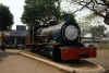 ZE type steam loco #27 plinthed outside the station entrance of Baripada, yards away from the line it once spent its days working hard over, when they were NG of course.