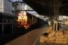 "VSKP WDM3A 14089 waits departure from Ranchi Jct with 12832 2010 (21/02) Bhubaneswar - Dhanbad Jct ""Garib Rath"""