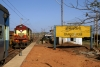 VSKP WDM3A 18802 at Dangoaposi prior to running round its train, 18416 0600 Puri - Barbil