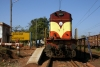 VSKP WDM3A 18802 at Dangoaposi with 18415 0805 Barbil - Puri, prior to running round