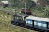 WDS6 36088 shunting at Kolkata Chitpur, while sister WDS6 36092 stands spare