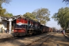 MHOW YDM4 6660 waits to cross a northbound train at Palia with 52975 0600 Ratlam Jct - Akola Jct