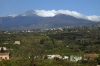 Mount Etna seen from the train between Catania & Taormina