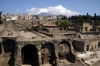Herculaneum Ruins - Mt Vesuvius in the background