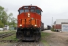 Hudson Bay Railway GMD GP40-2LW's 3005/3001 head train 290 1115 The Pas - Pukatawagan, waiting to depart The Pas