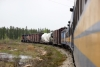 Hudson Bay Railway GMD GP40-2LW's 3005/3001 head train 290 1115 The Pas - Pukatawagan north from Flin Flon Junction
