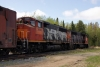 Hudson Bay Railway GMD GP40-2LW's 3005/3001 head train 290 1115 The Pas - Pukatawagan at Cranberry Portage