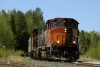 Hudson Bay Railway GMD GP40-2LWs 3001/3005 arrive into Cranberry Portage with 290 1000 Pukatawagan - The Pas