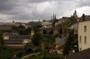 Luxembourg City from a departing train