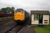 31430 runs into the station with the class 302 cars at Mangapps Railway Museum to start running shuttles