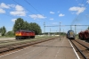 MAV 449127 shunting at Hajduszoboszlo, Karpart M62 628069 is stabled in the sidings