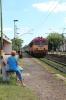 MAV M41 418172 arrives into Csapokert with R6316 1512 Debrecen - Fehergyarmat