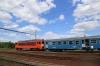 MAV M41 418172 departs Apafa with R6316 1512 Debrecen - Fehergyarmat
