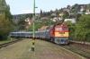 MAV M62 628089 arrives into Balatonalmandi with 19707 0740 Tapolca - Budapest Deli