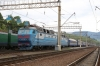 UZ ChS8-126 waits at Lavochne for the pilot loco to drop on top while working 081K 2102 (P) Kyiv Pas. - Uzhhorod