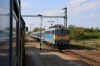 MAV 460054 waits at Csengele with 7013 1511 Szeged - Kiskunfelegyhaza, for MAV 431223 to come off the single line with IC734 1351 Budapest Nyugati - Szeged