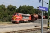 Kerpat 459021 stabled at Balatonboglar with a ballast train