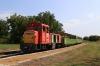 MAV NG Mk48-2013 waits to depart Somogyszentpal with the 1450 Somogyszentpal - Balatonfenyves GV