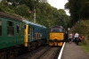 24081 waits at Meadstead with the 1115 Alresford - Alton as 31271 arrives with the 1140 Alton - Alresford