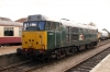 DCR's 31601 in Dereham station during the MNR diesel gala