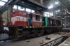 Maputo Workshops - RITES YDM4 D609 (ex 6481) undergoing overhaul (receiving parts from D603)