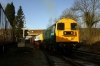 20205/189 wait to depart Butterley with 20205's first run in preservation; the 1010 Butterley - Riddings