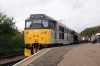 31271 at Peterborough NVR after arrival with the 1145 Wansford - Peterborough NVR; vice steam