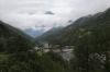 MGB HGe4/4 II #4 propels 250 1437 Zermatt - Visp between Stalden-Saas & Visp