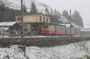 SPB (Schynige Platte) He2/2 #20, built in 1910, waits to depart Schynige Platte with 640 1021 Schynige Platte - Wilderswil
