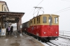 SPB (Schynige Platte) He2/2 #19, built in 1910, waits to depart Schynige Platte with 642 1101 Schynige Platte - Wilderswil