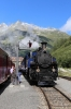 DFB steam loco HG3/4 #1 is watered at Gletsch while waiting with 157 1430 Realp - Oberwald