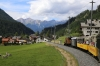RhB Ge6/6I #414 leads 2162 1425 Samedan - Landquart Summer Sunday Special between Preda & Bergun
