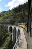 RhB Ge6/6I #414 heads over the Landwasser Viaduct, near Filisur, with 2162 1425 Samedan - Landquart Summer Sunday Special