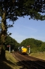 37059/37032 arrive into Weybourne with the 0852 Holt - Sheringham; dragging a DMU