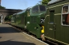 37032 at Holt waiting to depart with the 1005 Sheringham - Holt; dragging a DMU