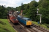 31128 runs round its train at Goathland