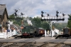 Steam 75029 leads 1T11 1140 Whitby - Pickering away from Grosmont