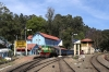 GOC YDM4 6724 waits to depart Coonoor with 56136 0710 Mettupalayam - Udagamandalam (Ooty); having replaced ONR X Class steam loco 37399