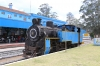 Retired ONR X Class steam loco 37384 (built in 1914) stands on display at Udagamandalam (Ooty); it would be dragged back from Ooty to Coonoor later that afternoon by GOC YDM4 6724