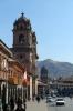 Peru, Cusco - Iglesia de La Compania de Jesus with Templo y Convento de la Merced in the background